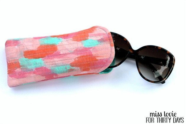 11 Quilted Sunglasses Case