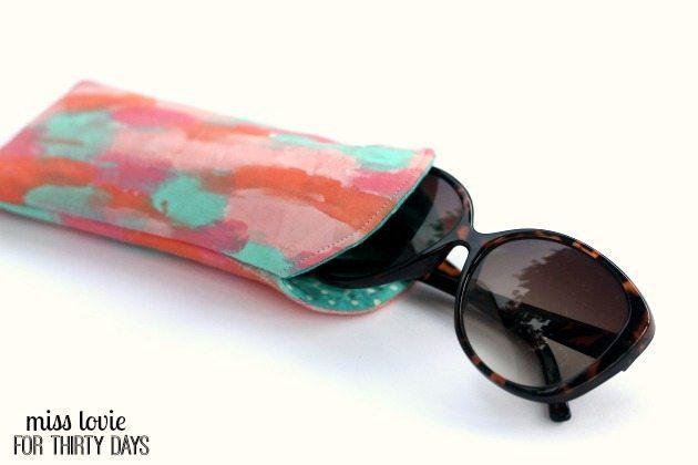 12 Painted Sunglasses Case