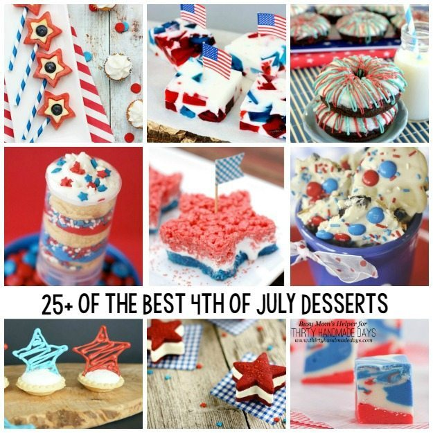 Check out these fabulous desserts for the 4th of July! via thirtyhandmadedays.com