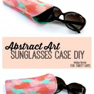 Abstract Art Sunglasses Case DIY