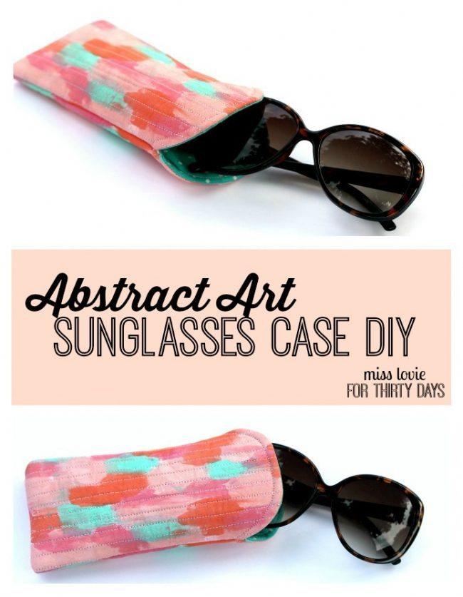 Abstract Art Sunglasses Case