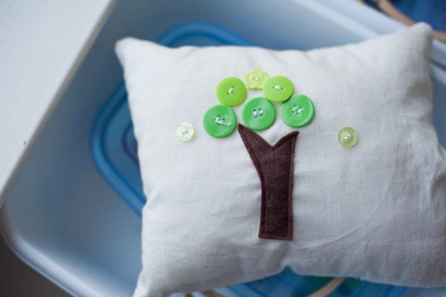 Teaching Kids to Hand Sew pillow