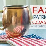 Patriotic Straw Coasters
