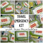 Travel Emergency Kit with Free Printables