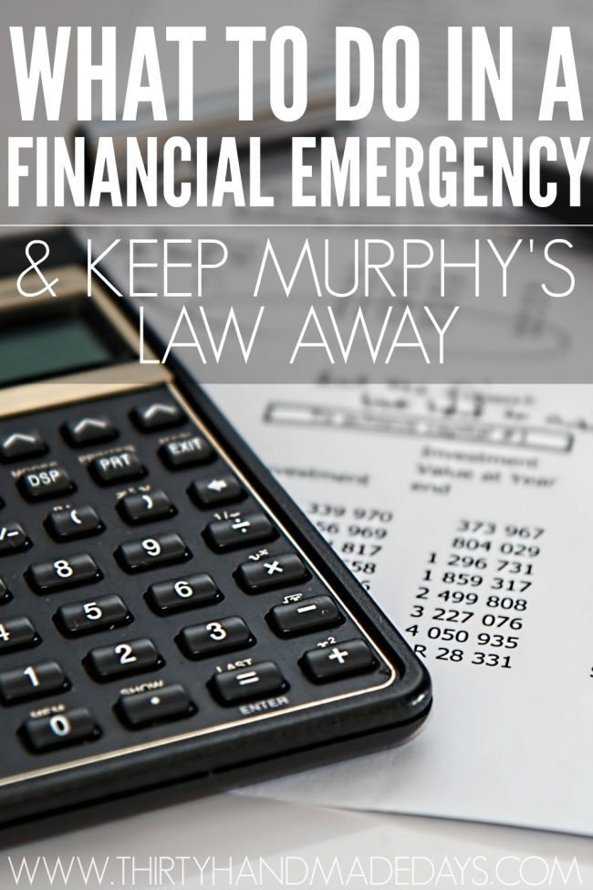 What to do in a financial emergency? You've been doing great. You've been effectively managing your money, but then Murphy's Law hits.