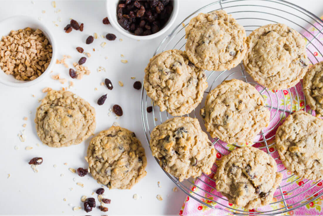 Oatmeal Raisin Cookie Recipe - a full plate of these delicious cookies.