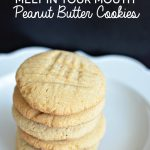 Melt in Your Mouth Peanut Butter Cookies from www.thirtyhandmadedays.com