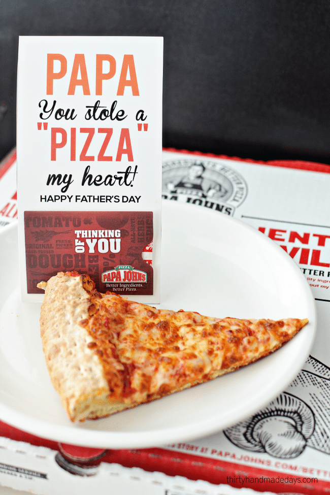 picture about Pizza Printable identified as Printable Fathers Working day Reward Card