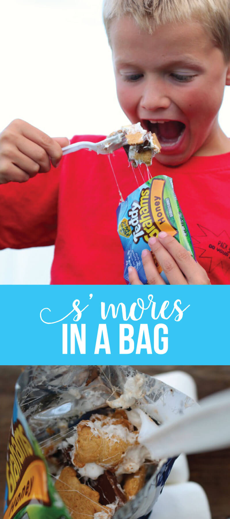 Smores in a Bag - a fun camping dessert recipe to try out.