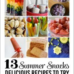 13 Summer Snack Recipes
