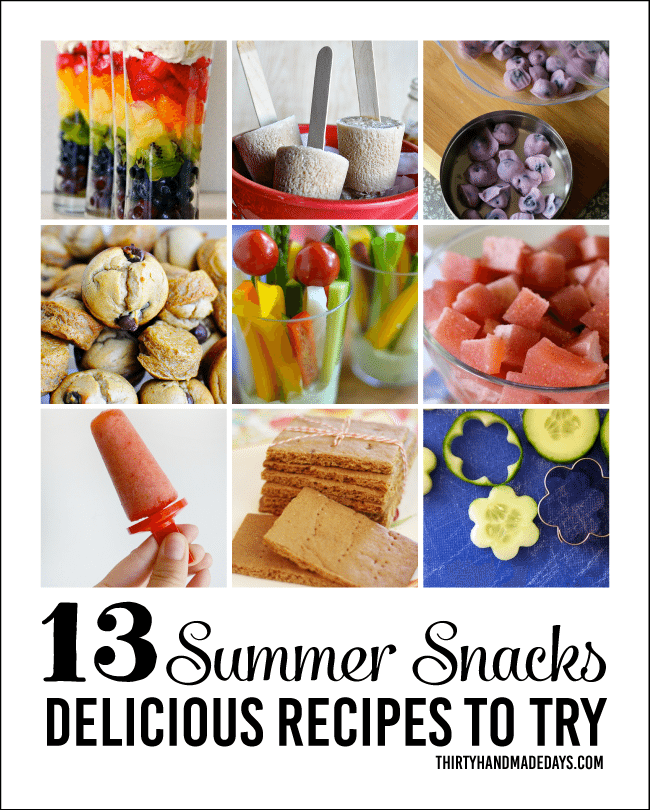 13 Summer Snack Recipes