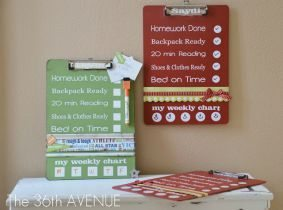 Back to School Clip Boards / Thirty Handmade Days