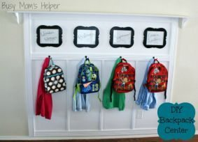 DIY Backpack Center with Measurements / by Busy Mom's Helper / Thirty Handmade Days
