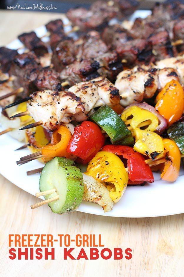 Freezer-to-Grill Shish Kabobs Recipe