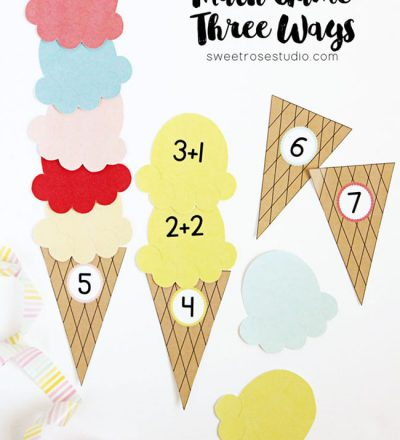 Ice Cream-Math Game Three Ways from Sweet Rose Home for Funner in the Summer