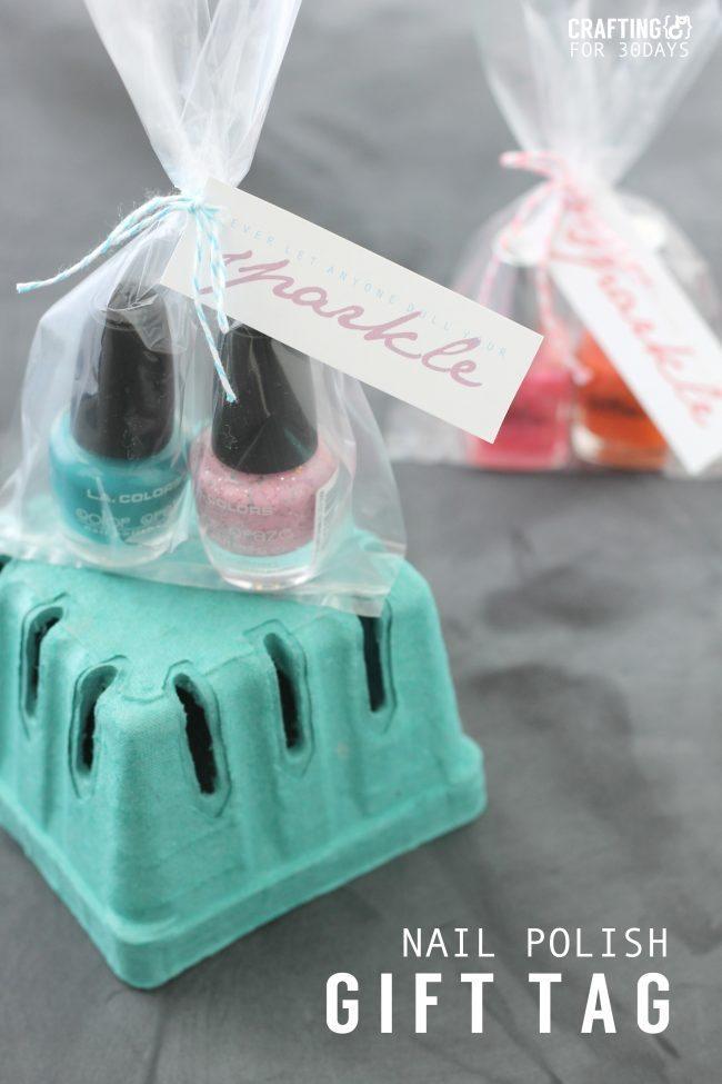 Nail Polish Gift Idea + Printable Tag