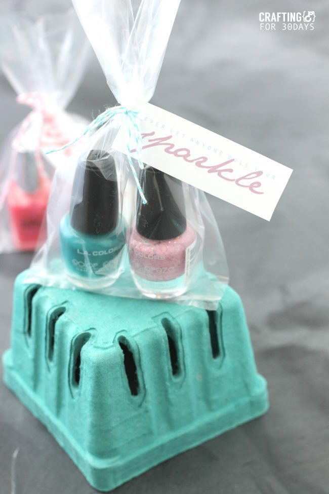Nail Polish Gift Idea + Printable Tag from Crafting E for 30daysblog