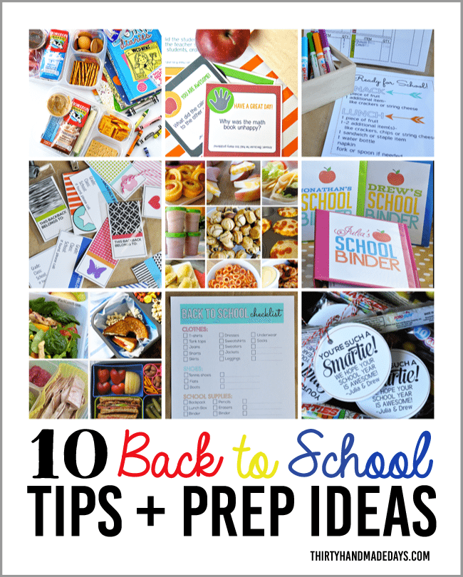 10 Back to School Tips & Prep Ideas from www.thirtyhandmadedays.com
