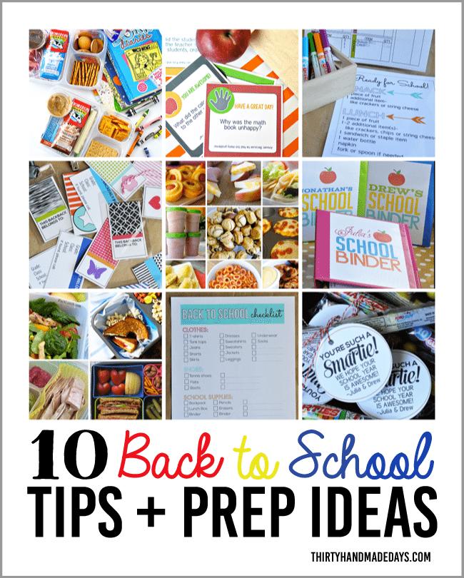 10 Back to School Tips & Prep Ideas from www.thirtyhandmadedays.com