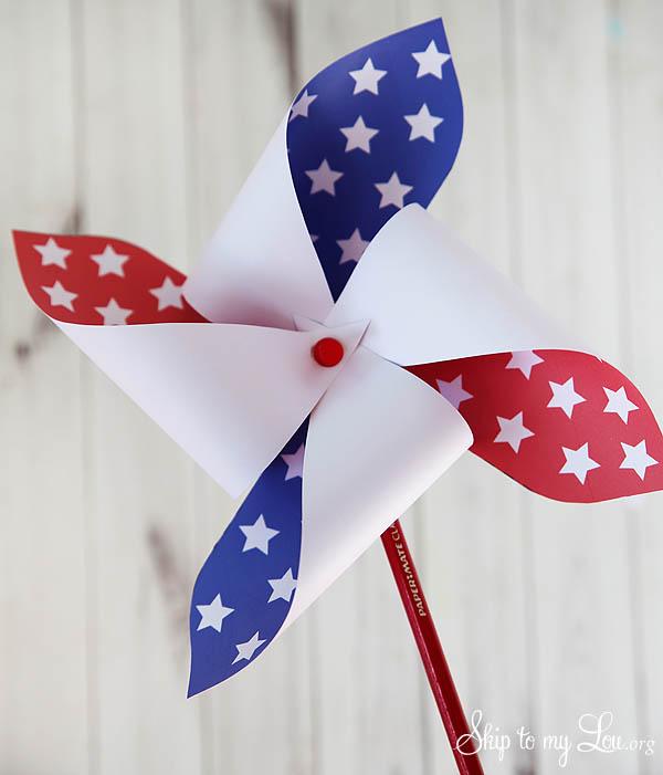 4th of July Patriotic Printable Pinwheel - final version