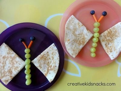 Butterfly Quesadilla / by Creative Kid Snacks / Round up by Busy Mom's Helper for Thirty Handmade Days