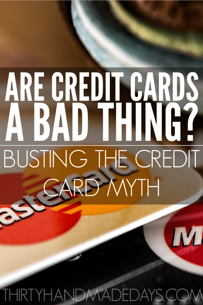 Are credit cards bad? Why would anyone not want to use a credit card? These are just some of the questions I receive often as an advocate for avoiding credit cards at all costs. Here's how I bust the myth of credit cards being a positive thing.