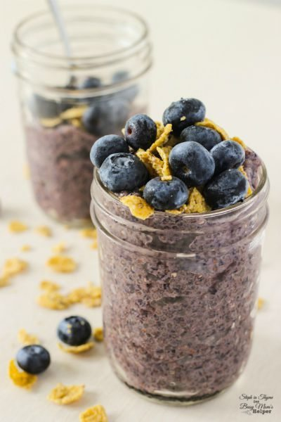 Healthy Blueberry Chia Pudding / by Steph in Thyme / Round up for Thirty Handmade Days