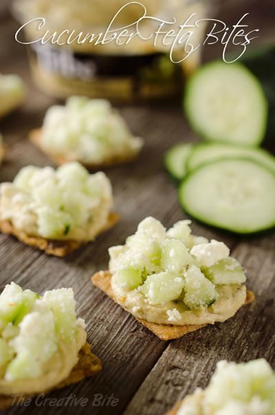 Cucumber Feta Bites / by The Creative Bite/ Round up by Busy Mom's Helper for Thirty Handmade Days