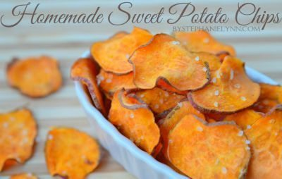 Homemade Sweet Potato Chips / by Stephanie Lynn / Round up by Busy Mom's Helper for Thirty Handmade Days