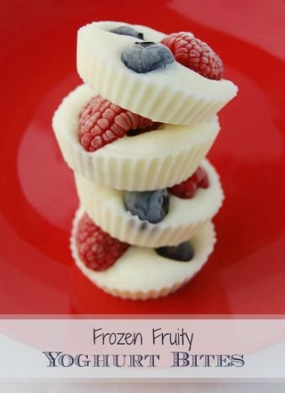 Frozen Fruity Yogurt Bites / by Eats Amazing / Round up by Busy Mom's Helper for Thirty Handmade Days
