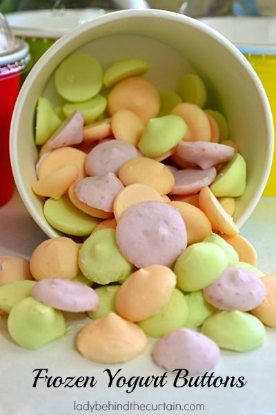 Frozen Yogurt Buttons / by Lady Behind the Curtain / Round up by Busy Mom's Helper for Thirty Handmade Days
