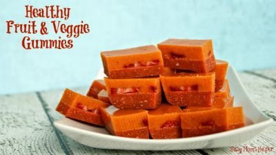 Homemade Fruit & Veggie Gummies / on Creative Green Living / Round up by Busy Mom's Helper for Thirty Handmade Days