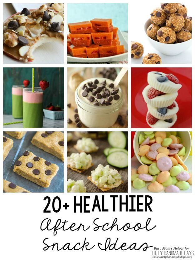 20+ Healthier After School Snack Ideas / Round up by Busy Mom's Helper for Thirty Handmade Days