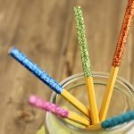 Glitter Dipped Pencils