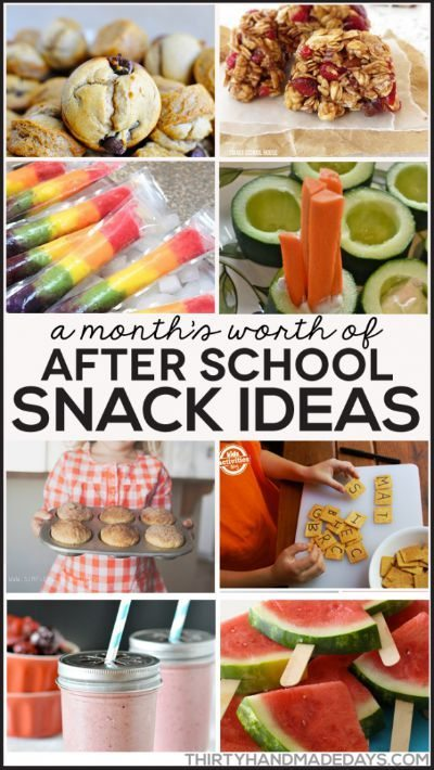 Month's Worth of After School Snack Ideas / by Thirty Handmade Days