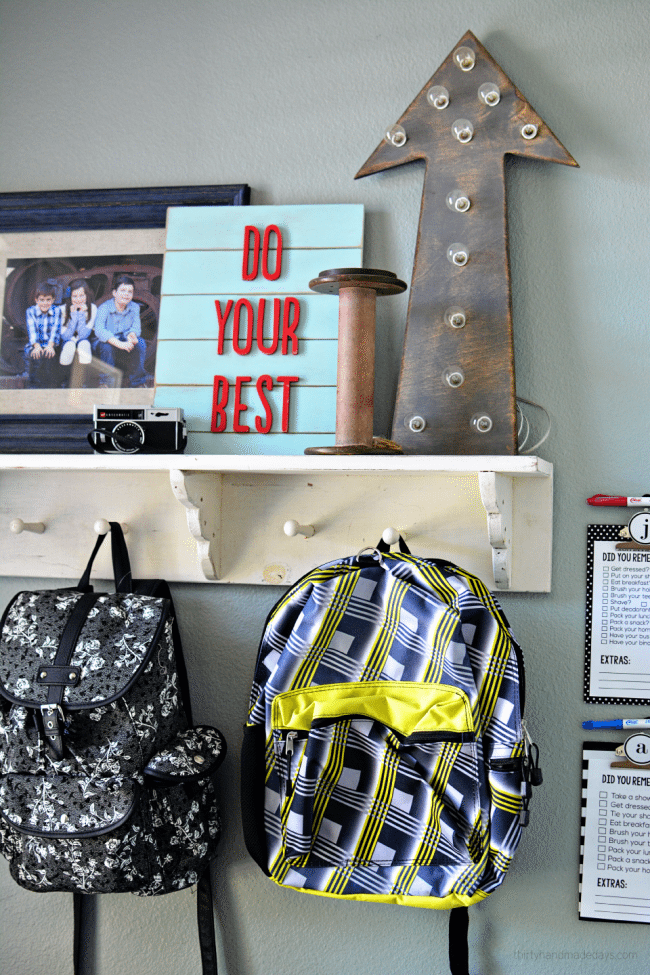 Back to School Organization Ideas from www.thirtyhandmadedays.com
