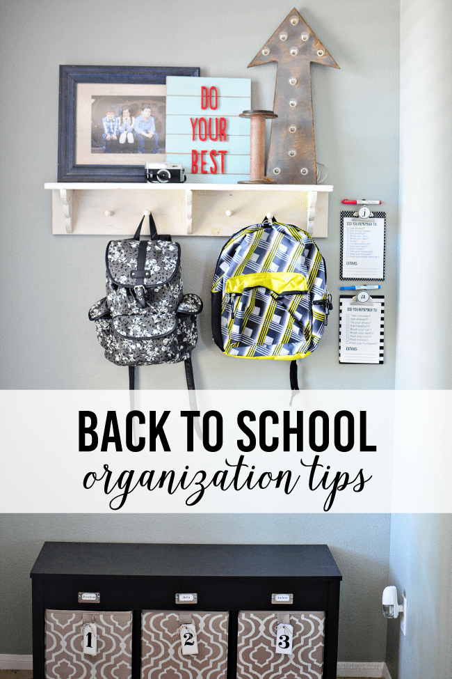 Back to School Organization Ideas from thirtyhandmadedays.com