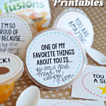 Fruit Cup Lunchbox Printables
