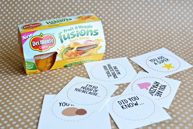 Fruit cup lunch box printables