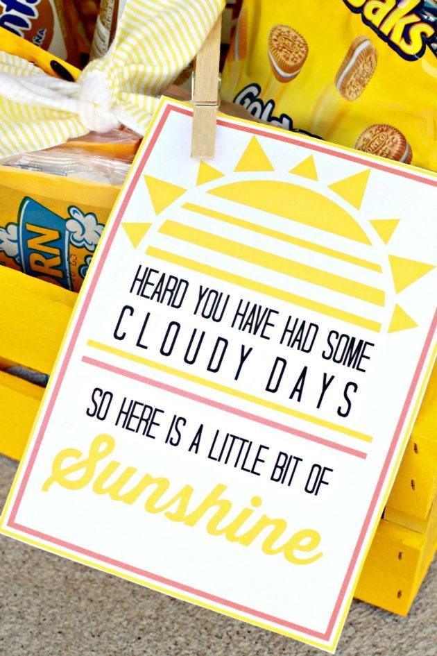 image about Box of Sunshine Printable identified as Basket of Sunlight with Printable
