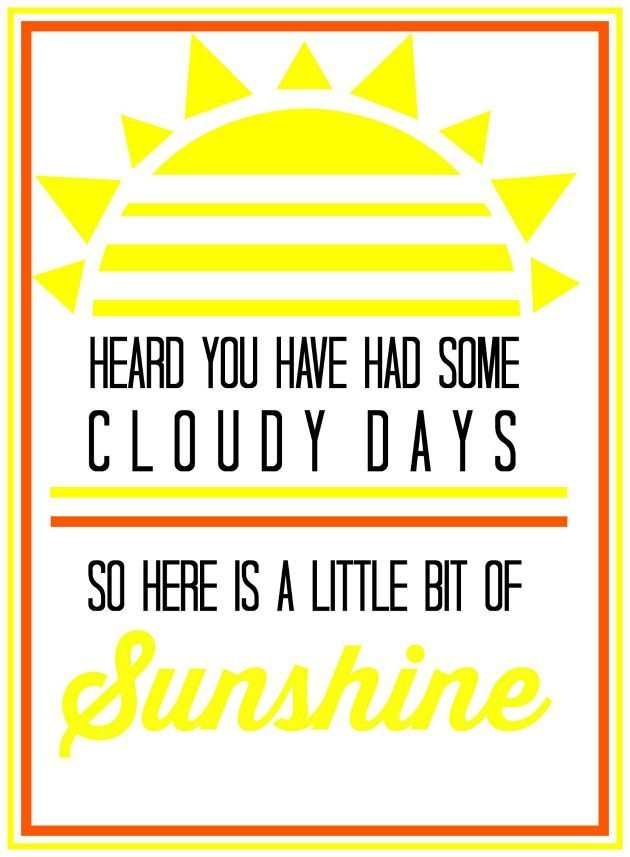 Basket of Sunshine with Printable