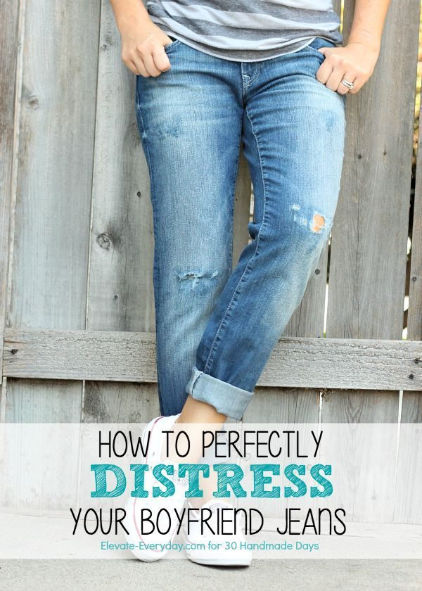 How to perfectly distress jeans - an easy DIY to make your own!