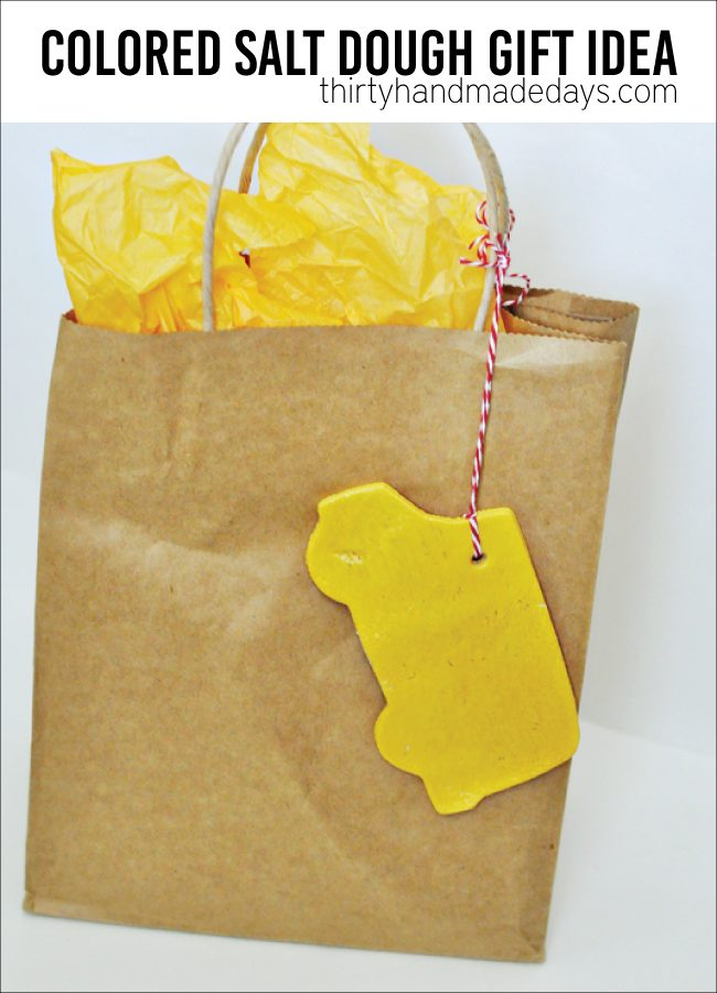 colored salt dough ornaments gift idea