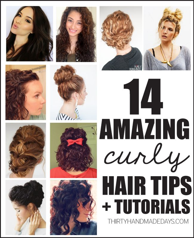 14 Amazing Curly Hair Tips + Tutorials from www.thirtyhandmadedays.com