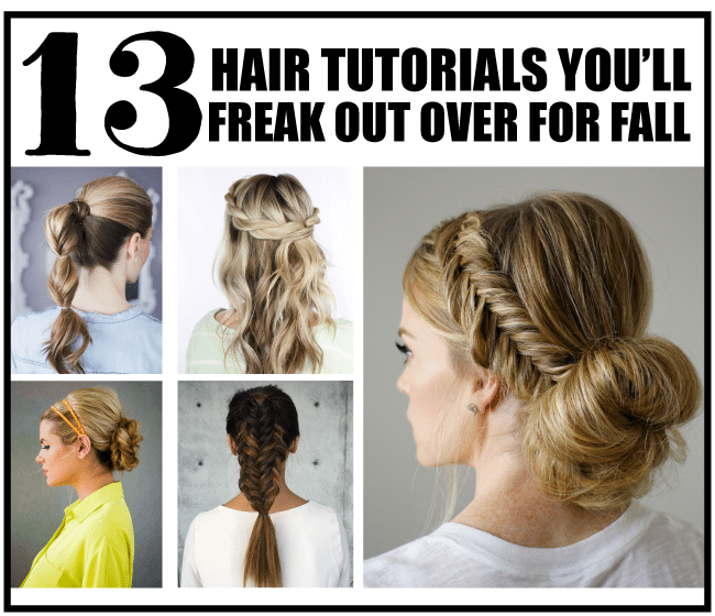 13 Hair Tutorials You'll Freak Out Over for Fall from www.thirtyhandmadedays.com