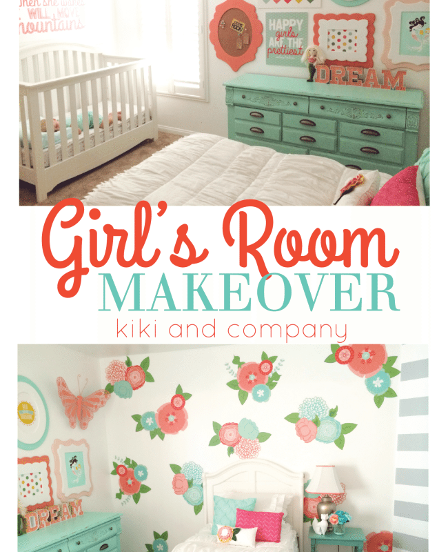 Girls Room Makeover featured at the Party Bunch