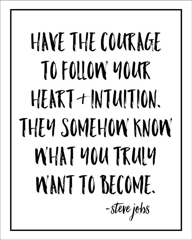 Printable Have the Courage quote www.thirtyhandmadedays.com