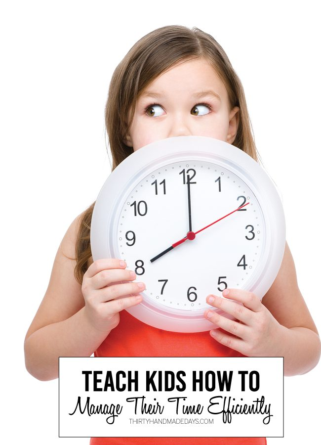 Teenagers should learn to manage time efficiently