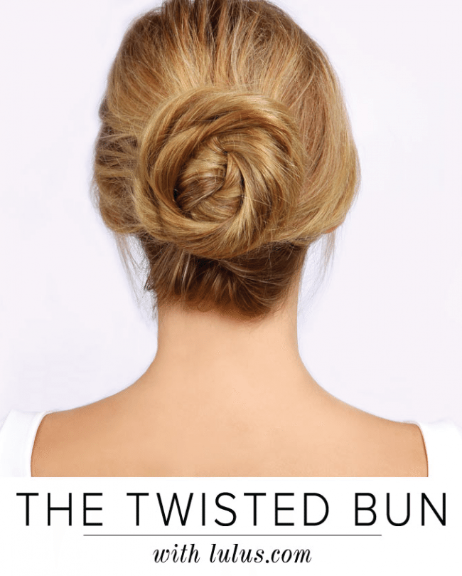 Twisted Bun Tutorial for fall hairstyles