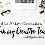 Call for Contributors